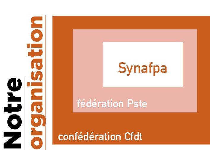 L'organisation du Synafpa dans la confédération CFDT