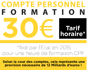 coût heure CPF 2015