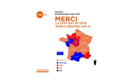 Carte résultat élections Prof.